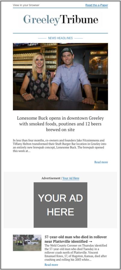 Greeley Tribune E-Newsletter