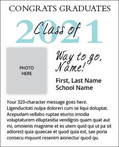 2021 Grad Ad